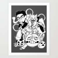 markiplier Art Prints featuring Markiplier [OFF] by Sconeo