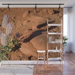 Lavender Bottlebrush in Desert Wall Mural