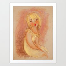 Matisse in Yellow Art Print