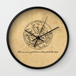 Dante's Inferno - Contemplate the Stars - Dante Alighieri Wall Clock
