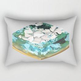 Low Poly Artic Scenes - Polar Bear (Isometric) Rectangular Pillow