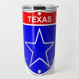 Texas Lone Star Interstate Sign Travel Mug