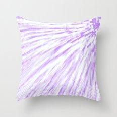 Lavender. Pixel Wind Throw Pillow