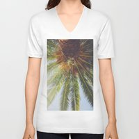 palms V-neck T-shirts featuring Palms by crashley96