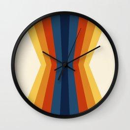 Bright 70's Retro Stripes Reflection Wall Clock