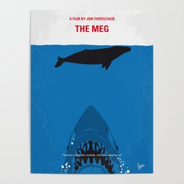 No985 My MEG minimal movie poster Poster