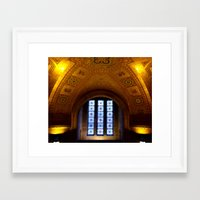 sacred geometry Framed Art Prints featuring Sacred by Aaron Carberry