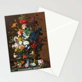 Flower Still Life with Bird's Nest, 1853 Stationery Cards