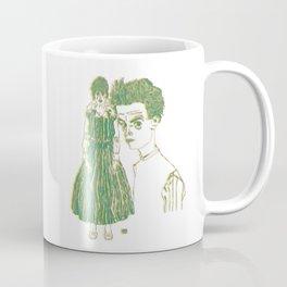 Egon and Edith Schiele Striped Coffee Mug