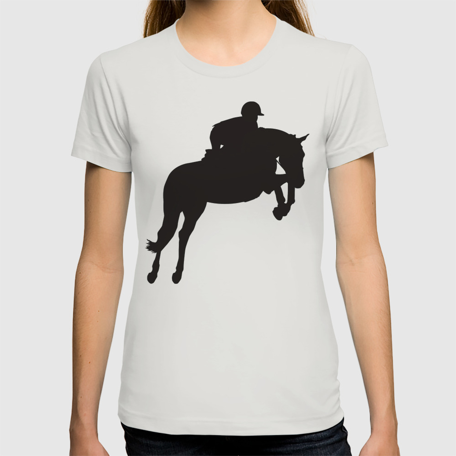 Jumping Horse Silhouette T Shirt By A Slice Society6