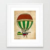 balloon Framed Art Prints featuring Balloon by Janko Illustration