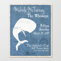 Admiral Cup Poster Design Canvas Print