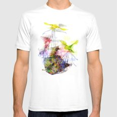 Flying Home (Glitch Remix) Mens Fitted Tee White MEDIUM