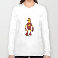 bender Long Sleeve T-shirts featuring Iron Bender by Andy Whittingham