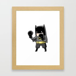 Parody Superhero Framed Art Print