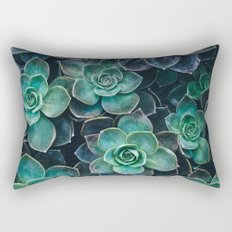 Succulent Blue Green Plants Rectangular Pillow