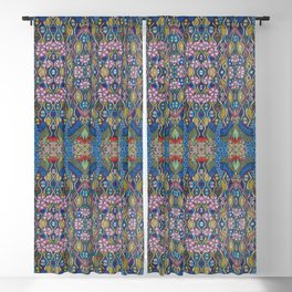 Crane with Cherry Blossoms Blackout Curtain