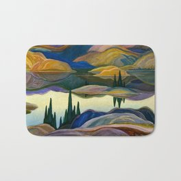 Franklin Carmichael - Mirror Lake - Canada, Canadian Watercolor Painting - Group of Seven Bath Mat