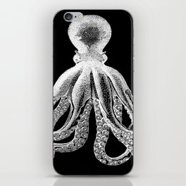 Octopus   Black and White iPhone Skin
