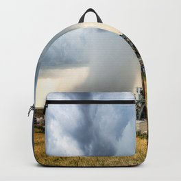 Nevermind the Weather - Oil Rig and Passing Storm in Oklahoma Backpack