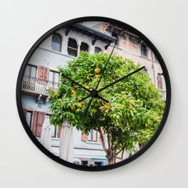 Lemon Tree in Desenzano del Garda Wall Clock