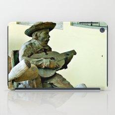 Jibaro Sculpture playing el Cuatro  iPad Case