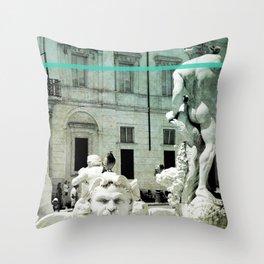 Neptune Fountain Rome Italy Throw Pillow