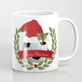 Christmas Soccer Ball Coffee Mug
