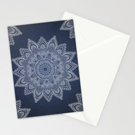 Blue mandala tibetan pattern Stationery Cards