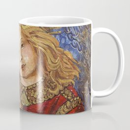 Figure Painting Angel with Harp Coffee Mug