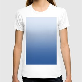 Pastel Blue to Blue Horizontal Linear Gradient T-shirt
