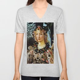 "Sandro Botticelli ""Primavera"" Flora Unisex V-Neck"