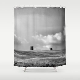 Echoes of Stonehenge during the Wiltshire Harvest Shower Curtain