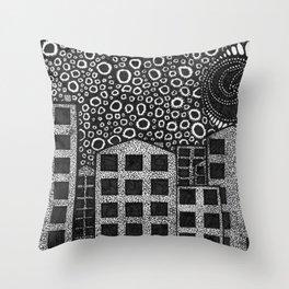 Artisan Artwork 1: Noughts and Dots... Throw Pillow