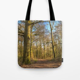 The Forest Path in Springtime Tote Bag