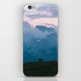 Mountain Sunset Horse - Landscape Wildlife Photography iPhone Skin