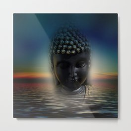 silence in your mind -4- Metal Print