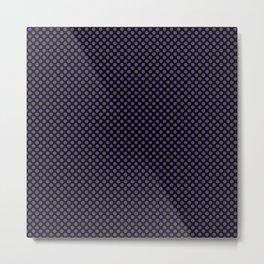 Black and Gentian Violet Polka Dots Metal Print