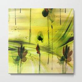 Dancing Flowers Abstract Metal Print