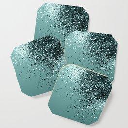 Teal Mermaid Ocean Glitter #1 #shiny #decor #art #society6 Coaster