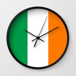 Irish national flag - Flag of the Republic of Ireland, (High Quality Authentic Version) Wall Clock