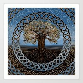Tree of life -Yggdrasil drawing Art Print