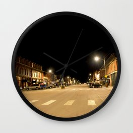 Gold Rush Era Town - Silverton at Night Wall Clock