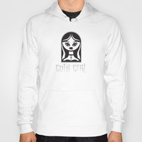 goth Hoodies featuring Goth Girl by Dan Sipple