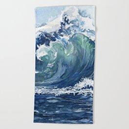 Kai's Wave Beach Towel