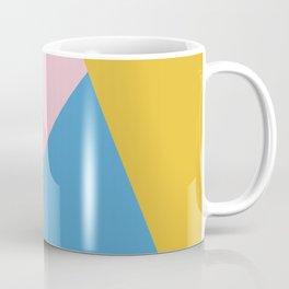 Cute Colorful Diagonal Color Blocking Coffee Mug