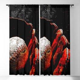 Baseball art print cx vs 1 Blackout Curtain