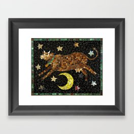 Cow Jumping Over the Moon Framed Art Print