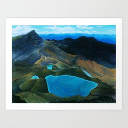 Tongariro Crossing Art Print