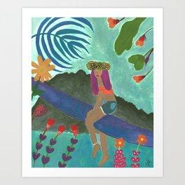 Tahiti Girl Art Print